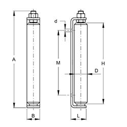Rola lunga teflon FAAC 118.5