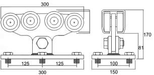 Sistem cu 5 role pentru portile autoportante Roger Technology 301.8L