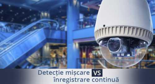Supraveghere video: inregistrare continua vs detectie la miscare