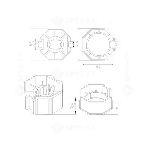 Adaptor pentru motor tubular CFT-AD-60/70