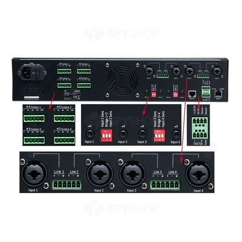 Amplificator DSP Bosch PLENA PLM-4P125, 4 canale, 125 W