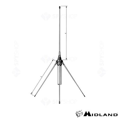 Antena de baza pentru cladiri GP 160 Midland G156