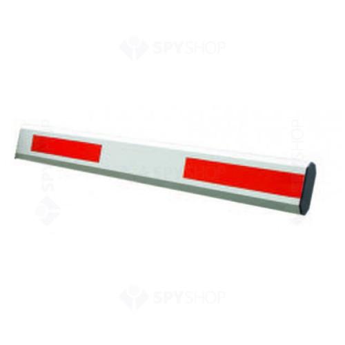 Brat cu elemente reflectorizante pentru bariera YK-BAR1H-6M, aluminiu, 6 m