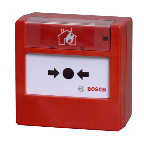 Buton de incendiu analog-adresabil Bosch FMC-420RW-GSGRD, IP54, rosu