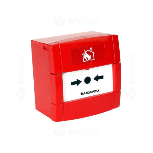 Buton de incendiu conventional Hochiki CDX CCP-E, IP24, ABS rosu