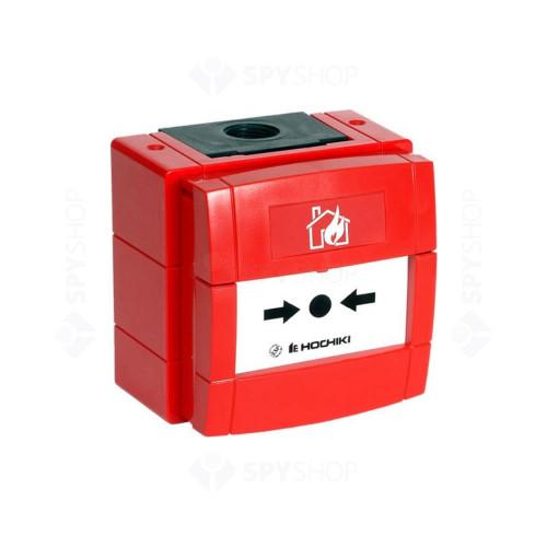 Buton de incendiu conventional rezistent la intemperii Hochiki CDX CCP-W, IP67, ABS rosu