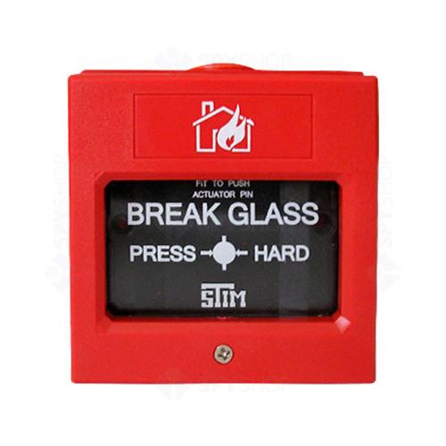 Buton de incendiu cu geam SM-108, NO/NC, cheie test