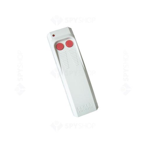 Buton de panica wireless Elmes HAND AN200H, 2 butoane, 1 canal, cod de securitate saritor
