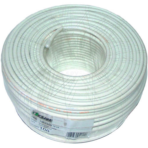 Cablu coaxial flexibil alb MICROCOAX