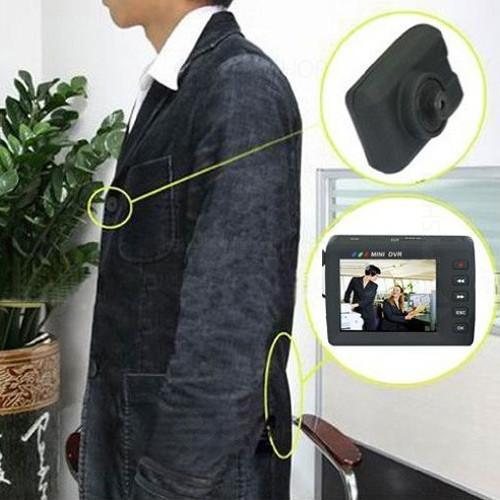 Microcamera ascunsa in nasture/surub si mini DVR cu ecran LCD