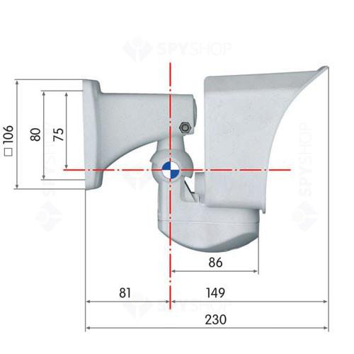 Camera supraveghere IP Megapixel Mobotix MX-M12D-Sec-Dnight-D135N135