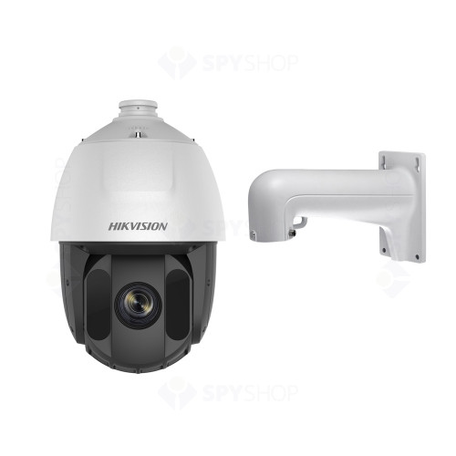Camera supraveghere IP Speed Dome Hikvision DS-2DE5425IW-AE, 4 MP, IR 150 m, 4.8 - 120 mm, 25x + suport