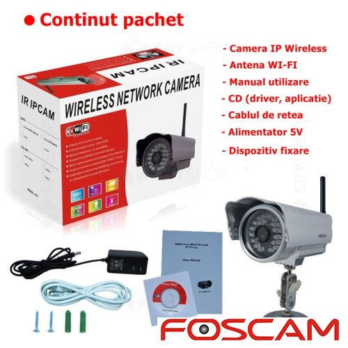 Camera supraveghere IP wireless de exterior Foscam FI8904W