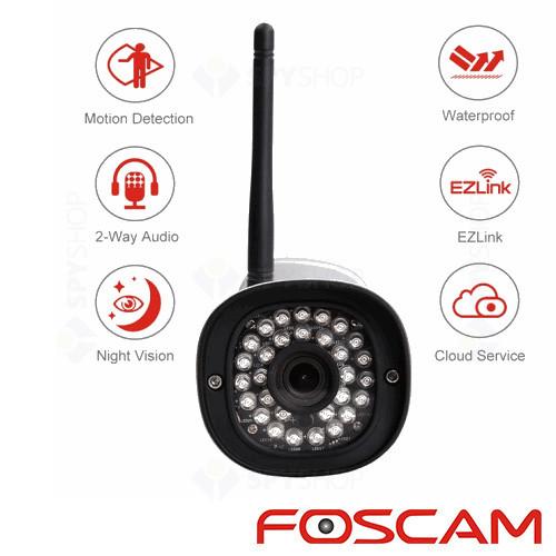 Camera supraveghere IP wireless de exterior Foscam FI9900P