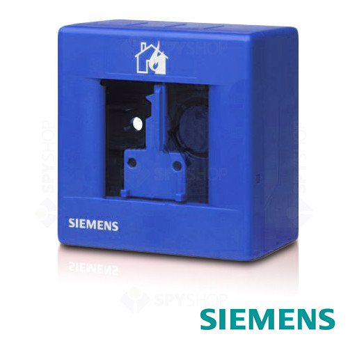 Carcasa buton de incendiu albastra Siemens FDMH291-B