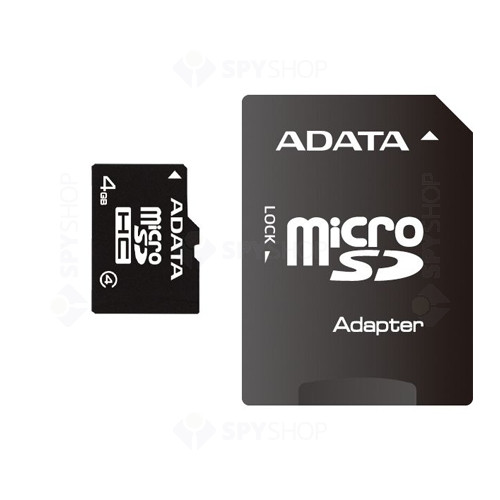 Card de memorie A-DATA MicroSDHC 4GB + ADAPTOR