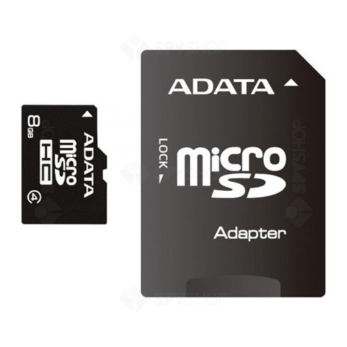 Card de memorie A-DATA MicroSDHC 8GB + ADAPTOR