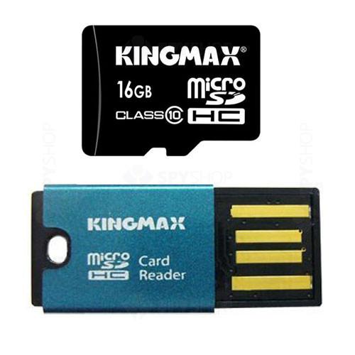 Card de memorie Kingmax MicroSDHC 16GB + CARD READER