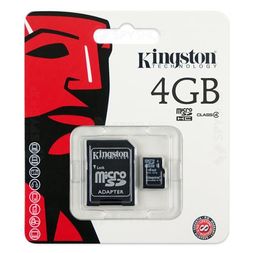 Card de memorie Kingston MicroSDHC 4GB + ADAPTOR