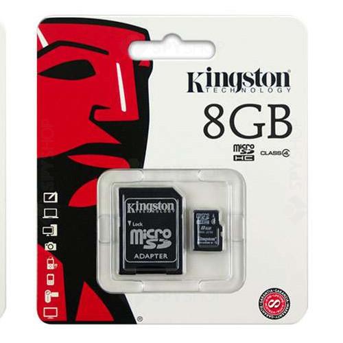 Card de memorie Kingston MicroSDHC 8GB + ADAPTOR