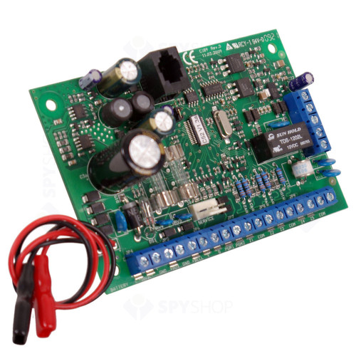 Centrala alarma antiefractie CERBER C52 PCB, 2 partitii, 5 zone, 30 utilizatori