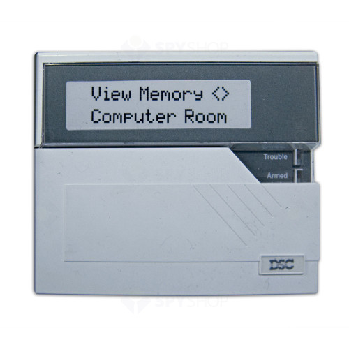 Centrala alarma antiefractie DSC Maxsys PC 4020 cu tastatura LCD4500 si cutie metalica, 8 partitii, 16 zone, 1500 utilizatori