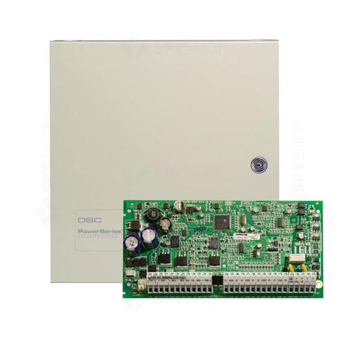 Centrala alarma antiefractie DSC Power PC 1832 cu cutie metalica, 4 partitii, 8 zone, 32 utilizatori