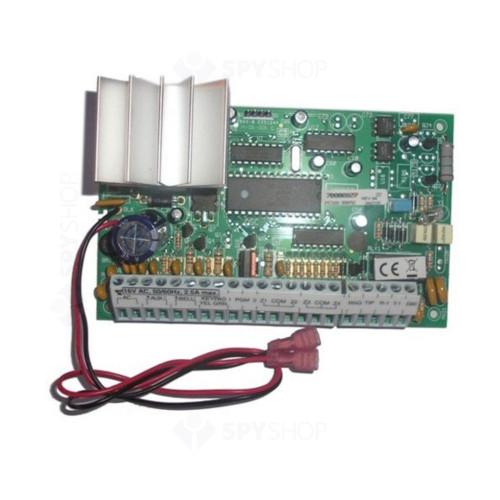 Centrala alarma antiefractie DSC power PC 585 cu tastatura PC1555 si cutie metalica, 1 partitie, 4 zone, 38 utilizatori