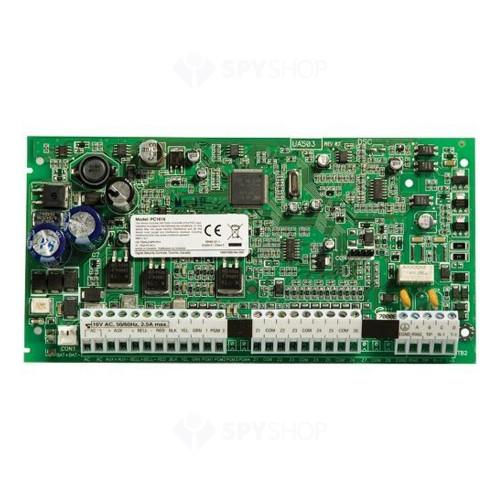 Centrala alarma antiefractie DSC Power PC1616 cu tastatura PC1555RKZ si carcasa metalica, 2 partitii, 6 zone, 48 utilizatori
