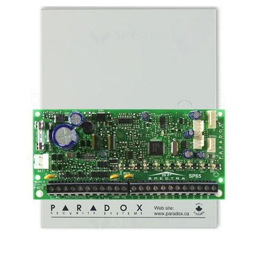 Centrala alarma antiefractie Paradox Spectra SP65, carcasa metalica cu traf, 9 zone, 2 partitii