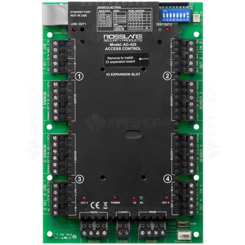 Centrala control acces ROSSLARE AC-425, 30000 utilizatori, 20000 evenimente, 4 cititoare