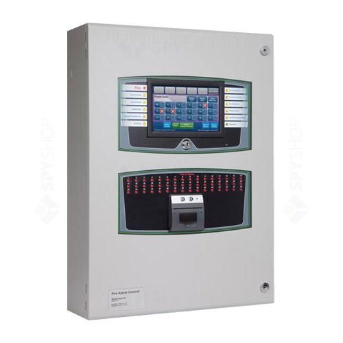 Centrala de incendiu analog-adresabila 2 bucle Kentec Taktis TAAED23110A1, max 8 bucle, 48 zone, cutie adanca