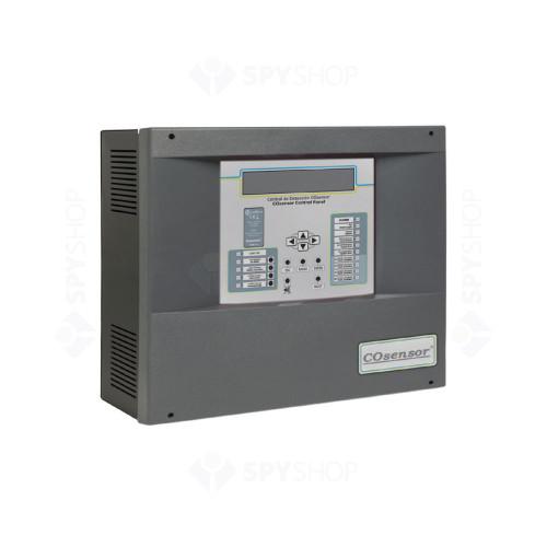 Centrala detectare CO si NO2 adresabila Cofem COsensor ZafirCO ZCO225, 2 zone, 25 detectori/zona, LCD