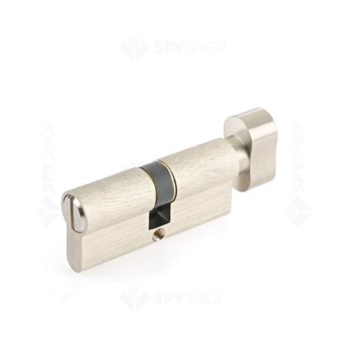 Cilindru siguranta patentat cu buton Yale 10-1803-3035-CK-2201, 5 chei, 6 pini, nichel satinat