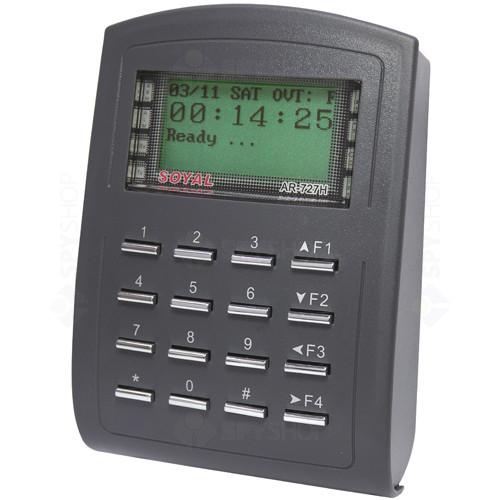 Cititor de proximitate cu tastatura Soyal AR 727 HBR, 1024 utilizatori, 1200 evenimente, 12 V
