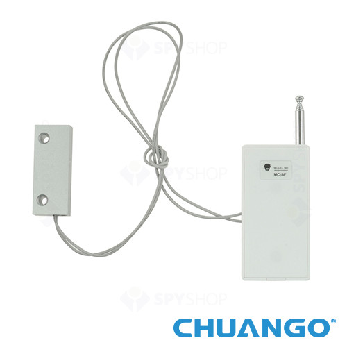 Contact magnetic pentru usa/fereastra metalica wireless Chuango MC-3F