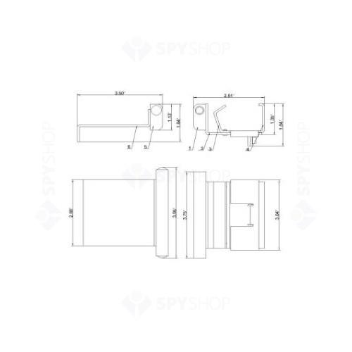 Contact magnetic pentru usi culisante Tane-96