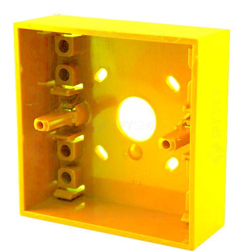 Cutie montaj galbena pentru butoane SY