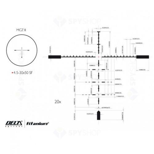 Luneta de arma Delta Titanium 4.5-30x50 SF