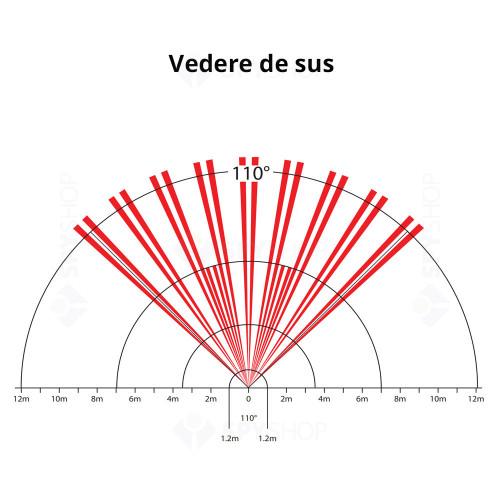Detector de miscare digital Quad PIR Paradox DG65+, 12 m, 110°, Digital Shield