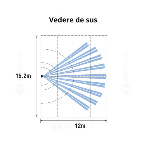 Detector de miscare PIR cu oglinda DSC ST 301D, digital, 12.5 x 15 m, 80°