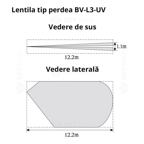 Detector de miscare PIR DSC Bravo BV 201, 12 m, 90°