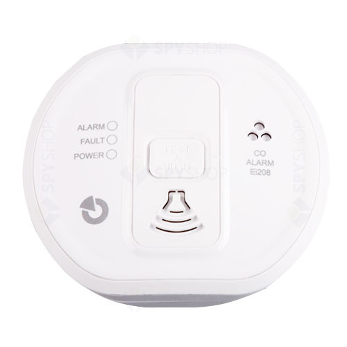 Detector de monoxid de carbon Jablotron 100 EI208DW, LED, buzzer, 85 dB