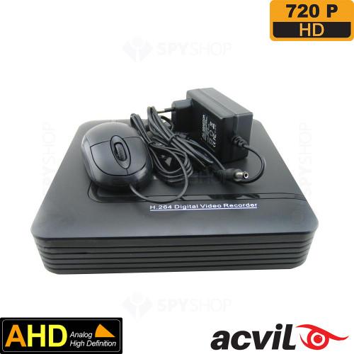 SISTEM SUPRAVEGHERE INTERIOR/EXTERIOR AHD CU 4 CAMERE VIDEO ACVIL AHD-4EXT20-720P-S4