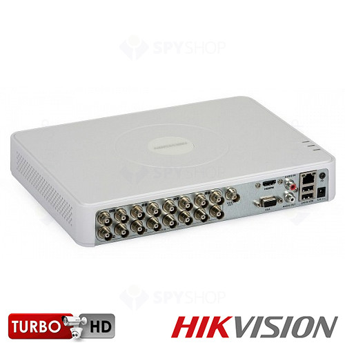 SISTEM SUPRAVEGHERE INTERIOR TURBOHD CU 16 CAMERE VIDEO HIKVISION TVI-16INT20-720P