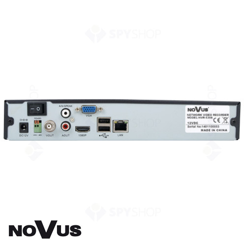 Network video recorder cu 4 canale video Novus NVR-5304