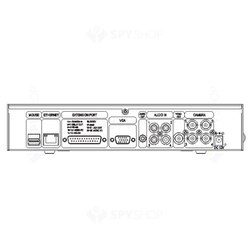 DVR Stand alone cu 4 canale video Unimo UDR-7004