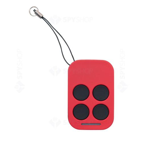 Emitator radio cu 4 butoane AJ-83-SM2-RD, cod fix, 433.92 MHz, ABS