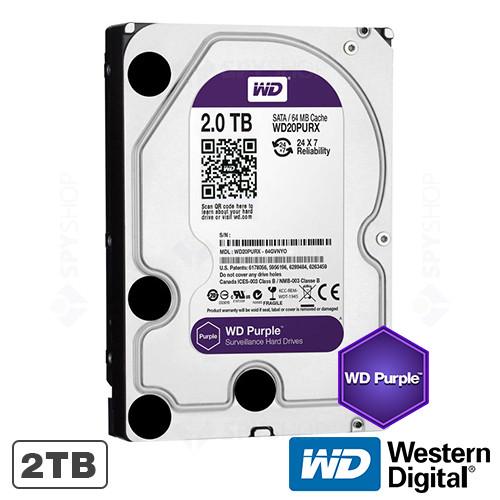 Hard disk 2TB IntelliPower 64MB WD Purple Western Digital WD20PURX