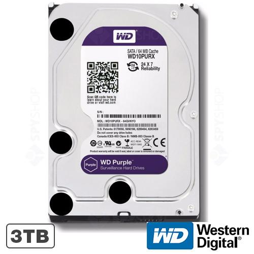 Hard disk 3TB IntelliPower 64MB WD Purple Western Digital WD30PURX